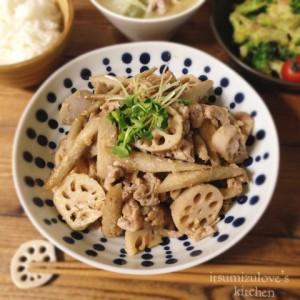 ごていしゅ根菜と豚肉の麦味噌炒め